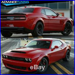 Fits 15-19 Dodge Challenger Hellcat to Demon Conversion Lip + Fender Flares Kit