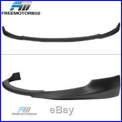 Fits 17-19 Tesla Model 3 IKON Style Front Bumper Lip Matte Black Polypropylene