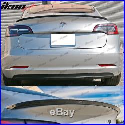 Fits 17-19 Tesla Model 3 IKON Style Trunk Spoiler Carbon Fiber