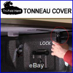 Fits 1994-2001 Dodge Ram 1500 Hard Solid Lock Tri-Fold Tonneau Cover 6.5ft Bed