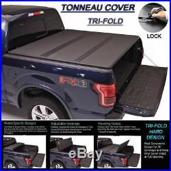 Fits 1999-2019 FORD F250 F350 F450 Tri-Fold Solid Hard Tonneau Cover 6.5ft Bed