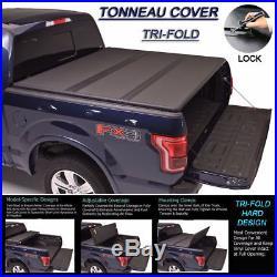 Fits 2002-2018 Dodge Ram Lock Hard Solid Tri-Fold Tonneau Cover 8ft Long Bed