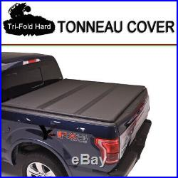 Fits 2004-2013 FORD F150 Tri-Fold Solid Hard Tonneau Cover 6.5ft (78) Bed