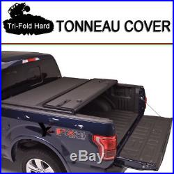 Fits 2004-2013 FORD F150 Tri-Fold Solid Hard Tonneau Cover 6.5ft (78) Short Bed
