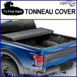 Fits 2004-2018 Ford F150 Lock Solid Hard Tri-Fold Tonneau Cover 5.5ft (66) Bed