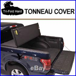 Fits 2004-2018 Ford F-150 Lock Hard Solid Tri-Fold Tonneau Cover 5.5ft (66) Bed