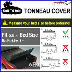 Fits 2007-2013 Chevy Silverado Assemble Solid Tri-Fold Tonneau Cover 5.8ft Bed
