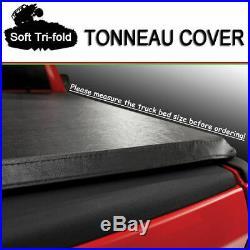 Fits 2007-2013 GMC Sierra Premium Soft Lock Tri-Fold Tonneau Cover 6.5 ft Bed