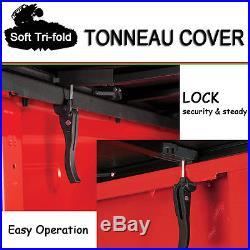 Fits 2007-2017 TOYOTA TUNDRA Premium Soft Tri-Fold Tonneau Cover 6.5 ft 78 Bed