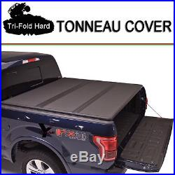 Fits 2015-2017 FORD F150 Tri-Fold Solid Hard Tonneau Cover 6.5ft (78) Short Bed