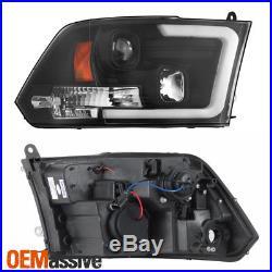 Fits Black 09-18 Ram 1500 10-18 2500/3500 Halogen Model Projector Headlights