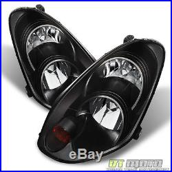 Fits HID Model 2005-2006 G35 Sedan G35X Headlights Black Headlamps Left+Right