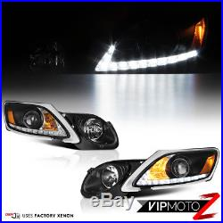 For 06-11 Lexus GS S190 Xenon HID Model Black LED DRL D4S Headlight Lamp PAIR