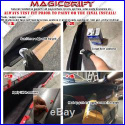 For 06-13 Chevy Corvette C6 BASE Models ZR1 ZR Style Front Bumper Lip Splitter