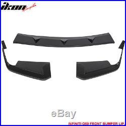 For 14-17 Infiniti Q50 Q50S Sport Model Front Bumper Lip ABS