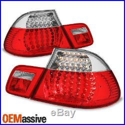 For 2003-06 BMW E46 325Ci 330CI M3 Coupe Model Red Clear LED Tail Brake Lights