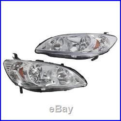 For 2004-2005 Honda Civic Excluding SI Model Headlights Headlamps Left+Right
