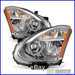 For 2008-2013 Rogue Headlights Headlamps Replacement Halogen Model Left+Right