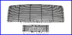 For 2009-2014 Ford F-150 Reg Model Solid Black Billet Grill Insert Combo