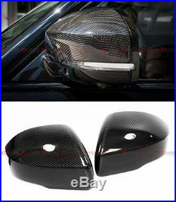 For 2013-2017 Range Rover L405 Carbon Fiber Side Mirror Cover Caps Overlay Pair