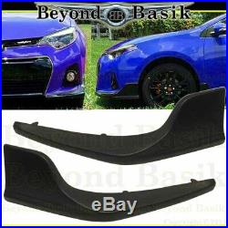 For 2014 2015 2016 TOYOTA COROLLA S Model Only Front Bumper Body Kit+Side Skirts