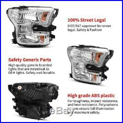 For 2015 2016 2017 Ford F-150 F150 Factory Halogen Model Headlight Lamp L+R Pair
