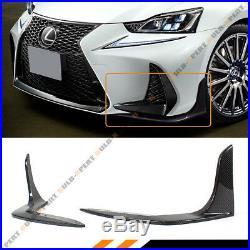 For 2017-19 Lexus Is200t Is350 Is300 F Sport Carbon Fiber Front Bumper Splitters