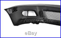For 99-05 BMW E46 3-Series 4Dr M3 style Front Bumper & clear fog lights Sedan