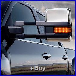 For 99-06 Silverado Sierra Towing Mirrors Manual Turn Signals Backup Lamps