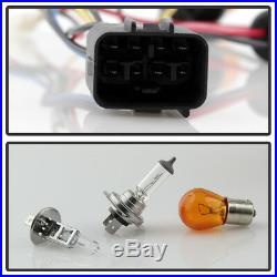 For Blk 2008-14 Subaru Impreza WRX Halogen Model LED DRL Projector Headlights