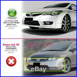 For Honda Civic Sedan 2006-2011 Front Bumper Cover JDM Facelift Style FD1