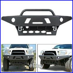 For Tacoma 05-15 Front Bumper (All Models) Winch Ready LED Hole Offroad Steel