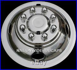 Ford Van RV 16 Dual Steel Wheel Simulators Dually 8 Lug Rim Skins Liners Covers