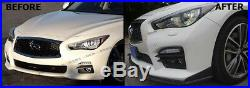 Front Bumper Chin Lip Spoiler Splitters For 2014-2017 Infiniti Q50 S Sport Model