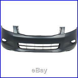 Front Bumper Cover For 2008-2010 Honda Accord Sedan with fog lamp holes Primed