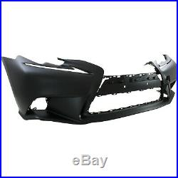 Front Bumper Cover For 2014-2015 Lexus IS250 with F Sport Pkg Primed Plastic