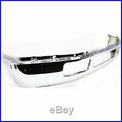 Front Bumper For 2005-2007 Ford F-250 Super Duty, Steel, Chrome