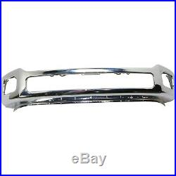 Front Bumper For 2011-2016 Ford F-250 Super Duty Chrome Steel CAPA