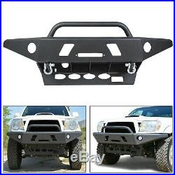 Front Bumper Winch +D-Rings Offroad Steel For 05-15 Toyota Tacoma (LOCAL PICK)