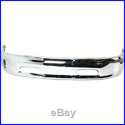 Front Lower Bumper For 2013-2016 Ram 1500 Chrome Steel with fog light holes