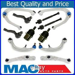 Front Upper Lower Ball Joints Control Arms Inner Outer Tie Rods for 350z G35 RWD