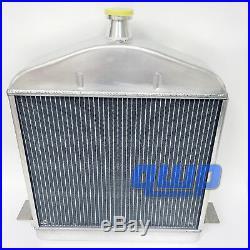 Full Aluminum Racing Radiator 2 Row For 1917-1927 Ford Model TT Model T 2.9L V8