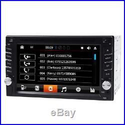 GPS Navigation With Map Bluetooth Radio Double Din 6.2 Car Stereo DVD Player
