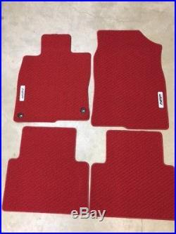 Genuine OEM Honda Civic 4dr 5dr Red Carpet Floor Mat Set 2016-2018