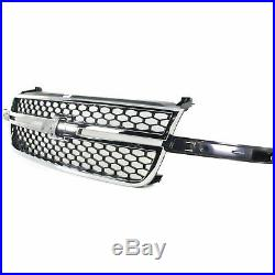 Grille 03-06 For Chevy Silverado 1500/2500 HD Chr/Black Insert witho Side Mldgs