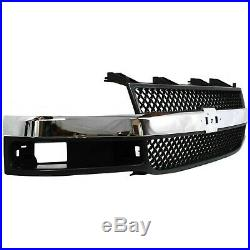 Grille Assembly For 2003-2017 Chevy Express 3500 with emblem provision