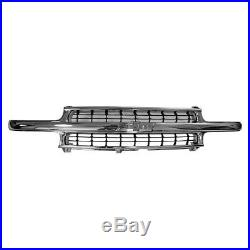 Grille Chrome with Black Inserts for Chevy Suburban Tahoe Silverado 1500 NEW