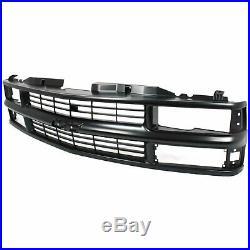 Grille For 94-99 Chevrolet K1500 C1500 Black Plastic