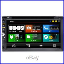 HD 7 In Dash Double 2 Din Car Stereo DVD Player Touchscreen Auto Radio +Camera