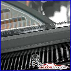 HID Model+LED BarFor 2013 2014 2015 Hyundai Genesis Coupe Black Headlights Set